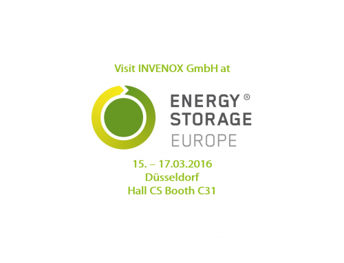 INVENOX at Energy Storage 2016 (hall CS, C31)